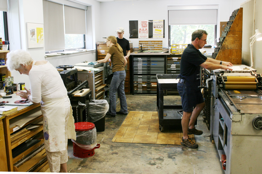 Community Letterpress Workshop at the Gold Quoin Press, Bradley University