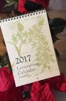 Letterpress Calendar 2017