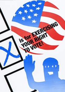X is for eXercising your right to vote